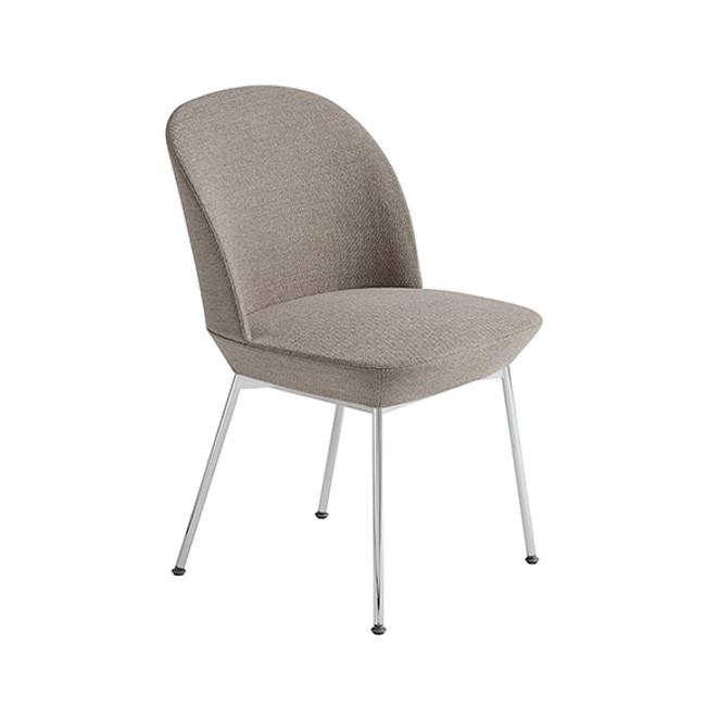 Muuto Oslo Side Chair in Ocean 32 / chrome legs