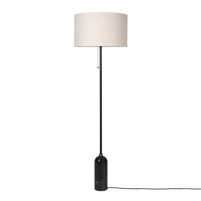 Gubi Gravity Floor Lamp in Canvas/black marble