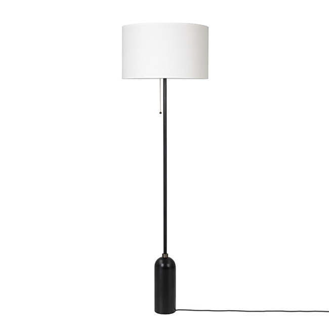 Gubi Gravity Floor Lamp in white/black steel