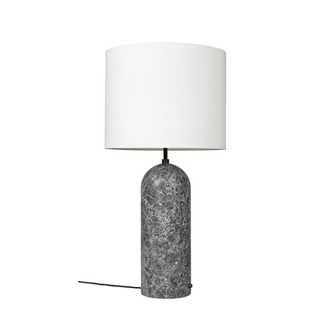 Gubi Gravity XL Floor Lamp Low in white/grey marble