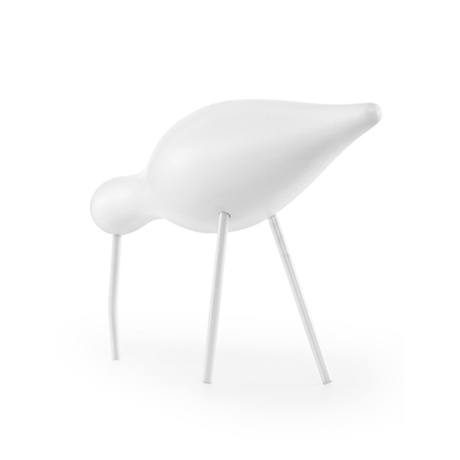 Normann Copenhagen Shorebird in white/white large