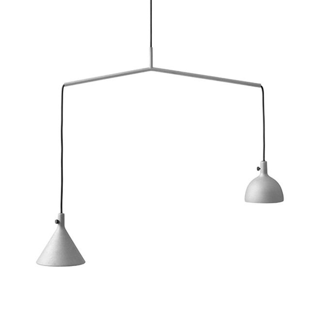 Menu Cast Pendant Shape 4 in Grey