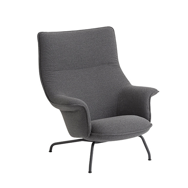 Muuto Doze Lounge Chair in Ocean 80/anthracite black base