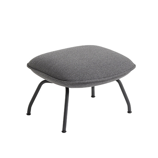 Muuto Doze Ottoman in Ocean 80/anthracite black base