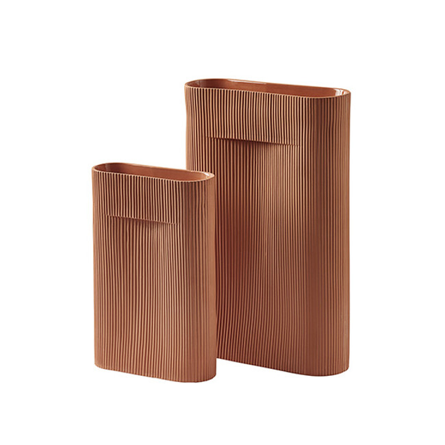 Muuto Ridge Vase Terracotta