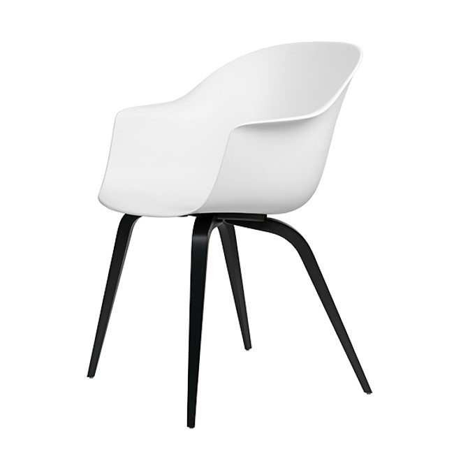 Gubi  |  Bat Dining Chair Wood Base