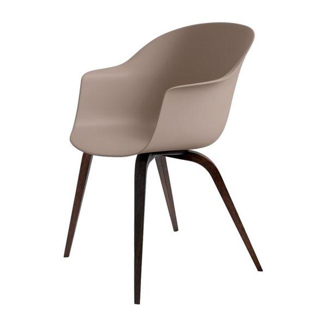 Gubi  |  Bat Dining Chair Wood Base
