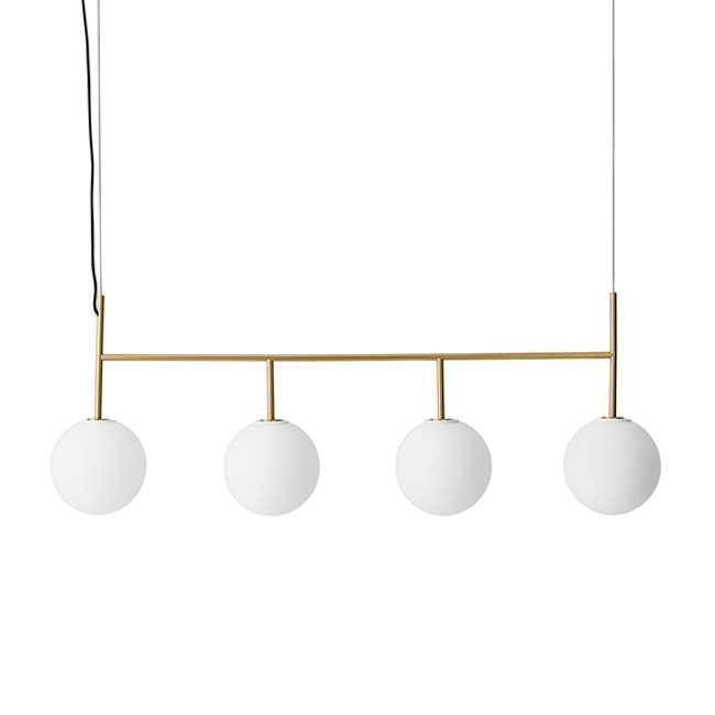 Menu | TR Bulb, Suspension Frame Brushed Brass
