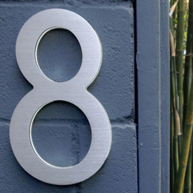 "Luxello  |  Modern LED House Number 16"" Outdoor"