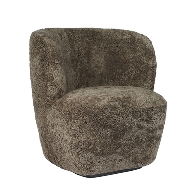 Gubi  |  Stay Lounge Chair Sheepskin Small with Base