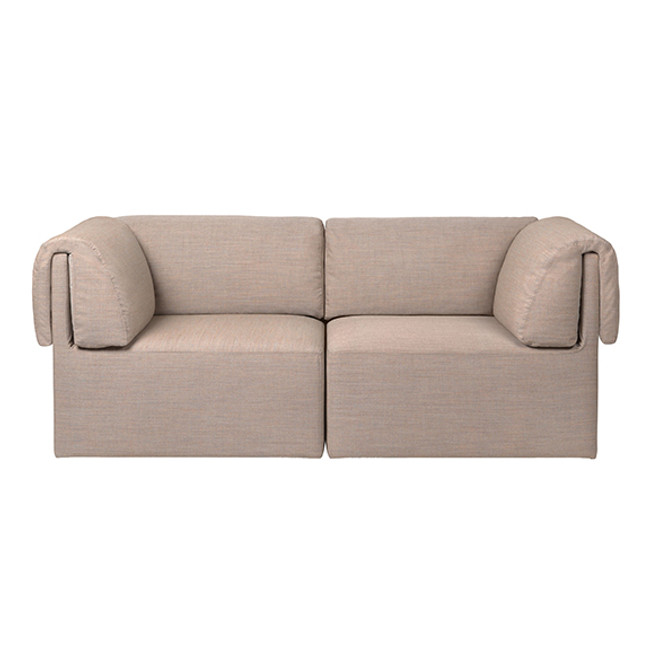 Gubi Wonder Sofa 2-Seater in Kvadrat Remix-2 0242