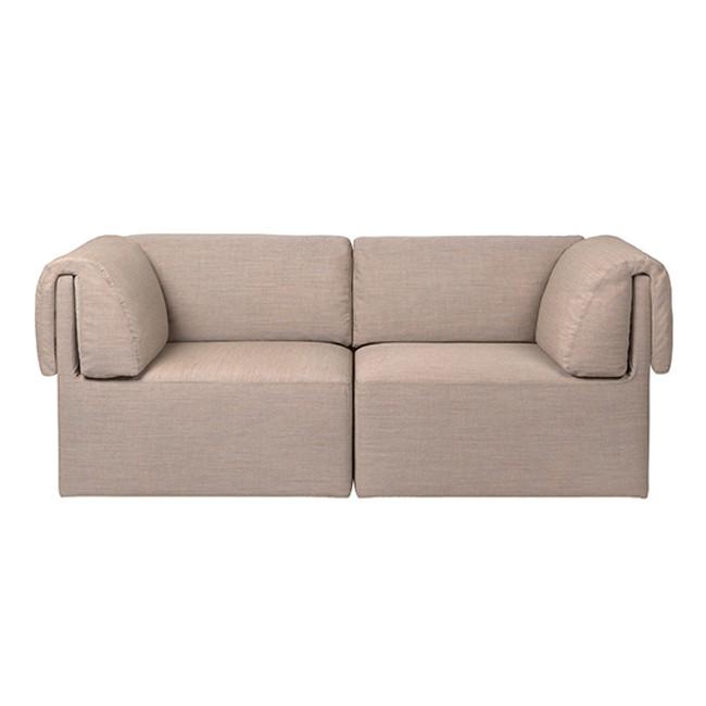 Gubi Wonder Sofa 2-Seater in Kvadrat Remix-2 0242