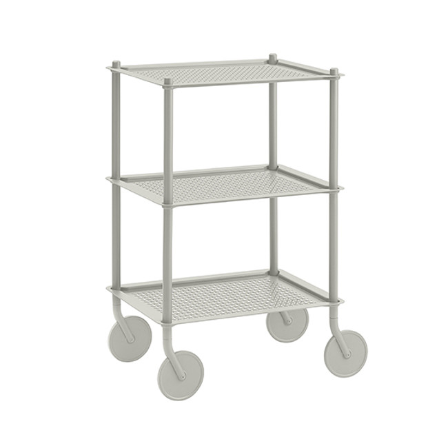 Muuto  |  Flow Trolley Grey 3-Layer