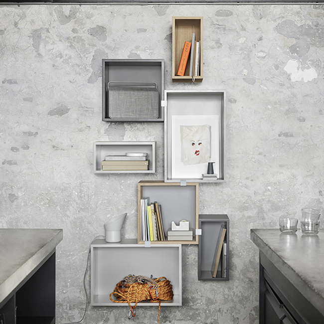 Muuto Stacked is a beautiful freeform shelving system