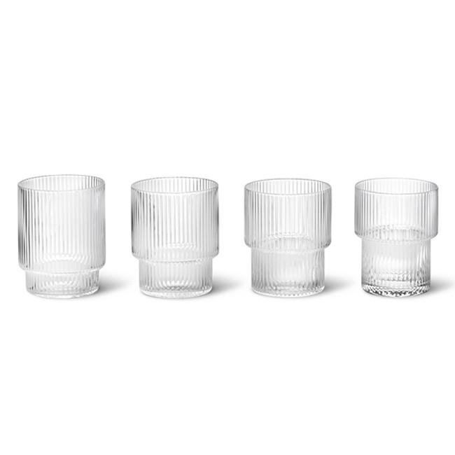 Ferm Living  |  Ripple Glasses Clear