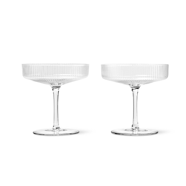 Ferm Living  |  Ripple Champagne Saucer Clear