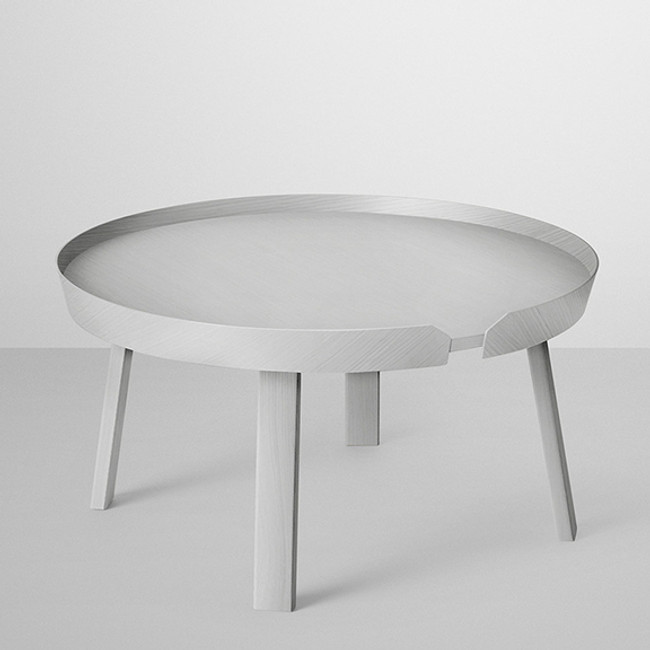 Around coffee table in grey