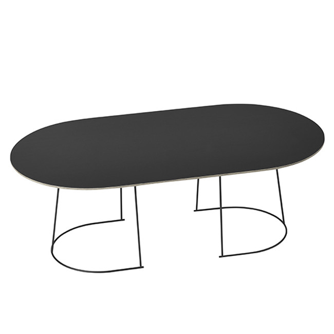 large Airy Coffee Table in black