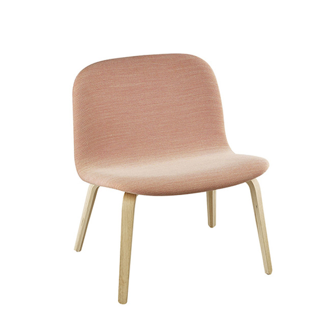 Muuto Visu Lounge Chair Upholstered in oak / steelcut trio 515