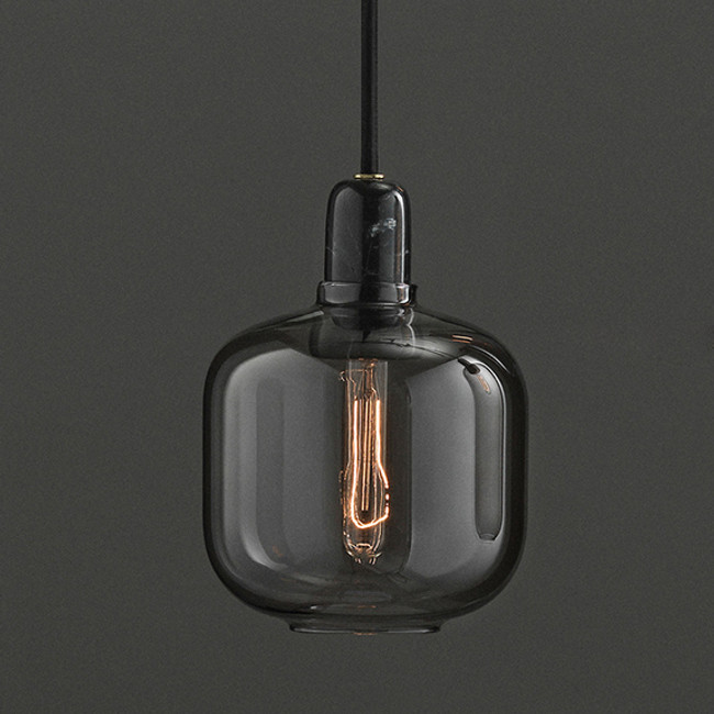 Normann Copenhagen Amp Lamp small in Smoke/Black