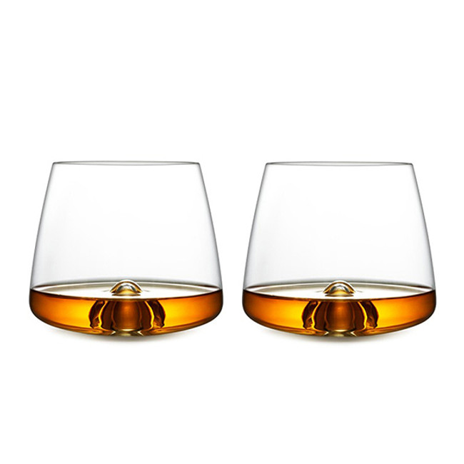 the pack contains two beautiful whiskey glasses
