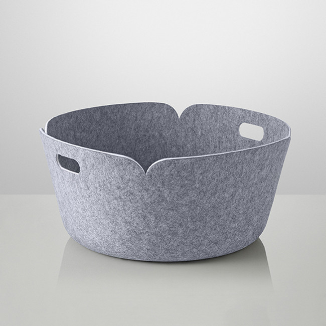 Muuto Restore Round Basket in grey