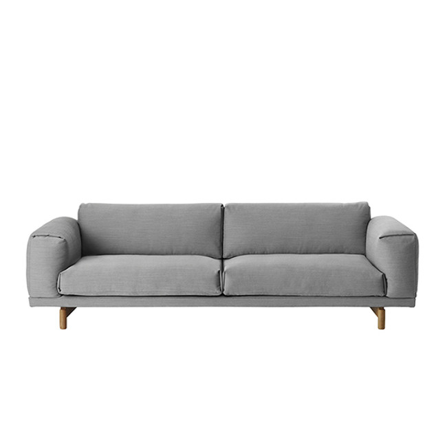 Rest Sofa shown in Grey Steelcut Trio 133  textile