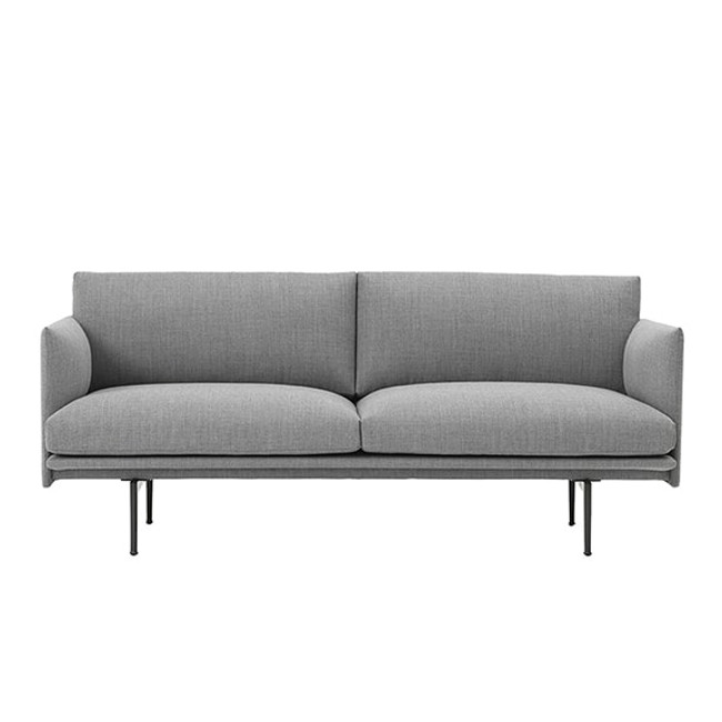 Muuto Outline Sofa in Light Grey Fiord 151