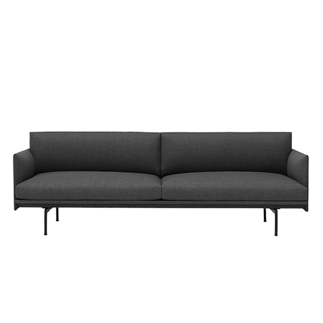 Muuto Outline Sofa in Dark Grey Remix 163