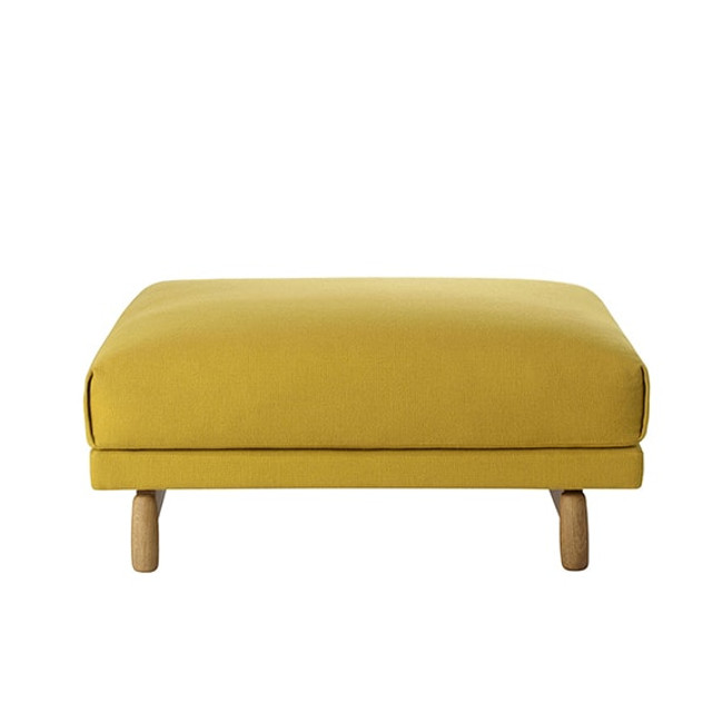 Muuto Rest Pouf shown in Hallingdal 457 textile