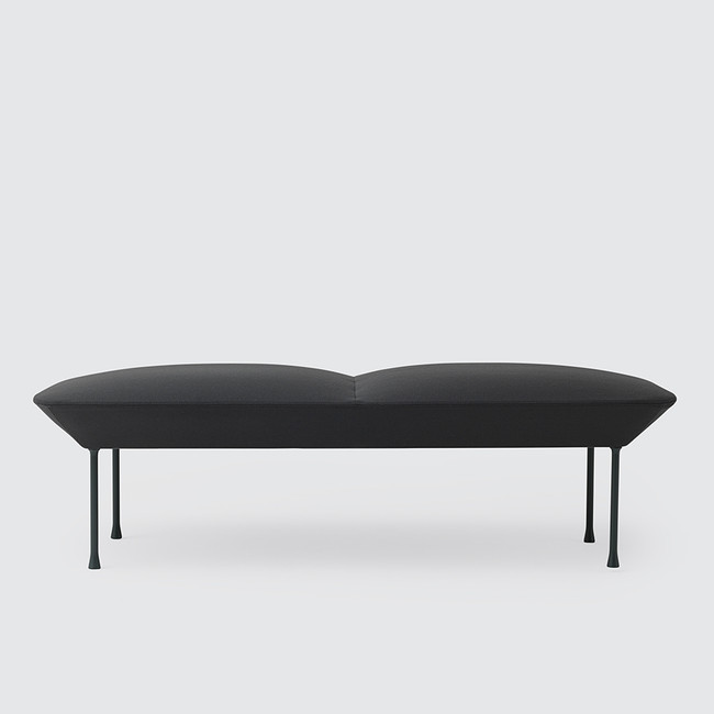 Muuto Oslo Bench in Steelcut 180 / Dark Grey Legs