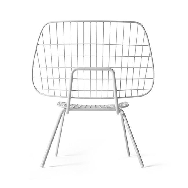 WM String Lounge Chair in white