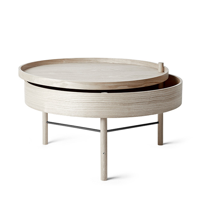 The Turning Table by Menu was inspired from the idea of combining a table and storage.