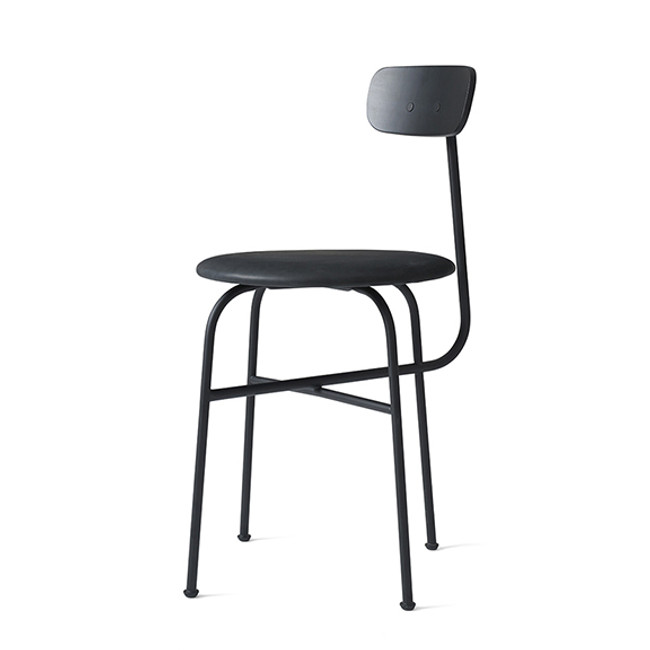 Menu Afteroom Dining Chair 4 in Black/Black leather