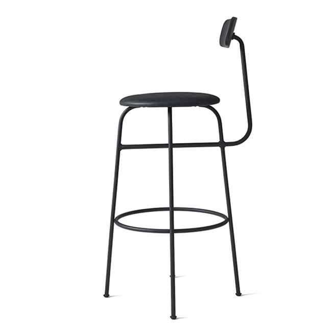 Menu Afteroom Bar Chair Upholstered Black/Black Leather