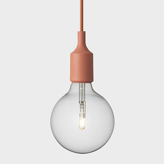 New Muuto E27 pendant in terracotta