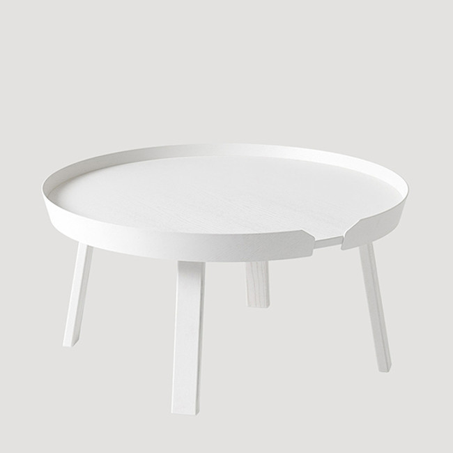 Around coffee table in white