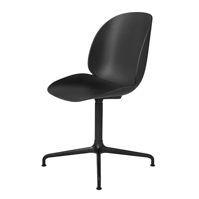 Gubi Beetle Chair Swivel Base in black seat / black base
