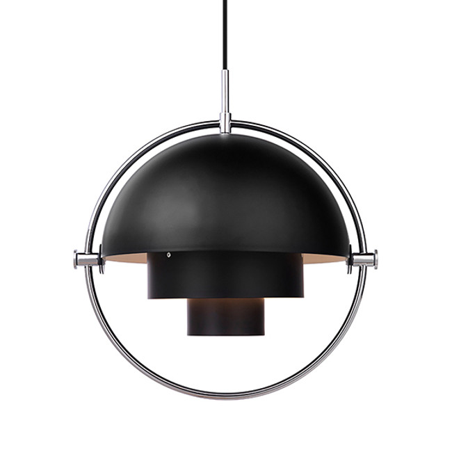 Gubi Multi Lite Pendant in black/chrome