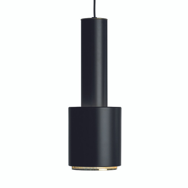 Artek Hand Grenade Pendant in Black shade / Black polished brass ring