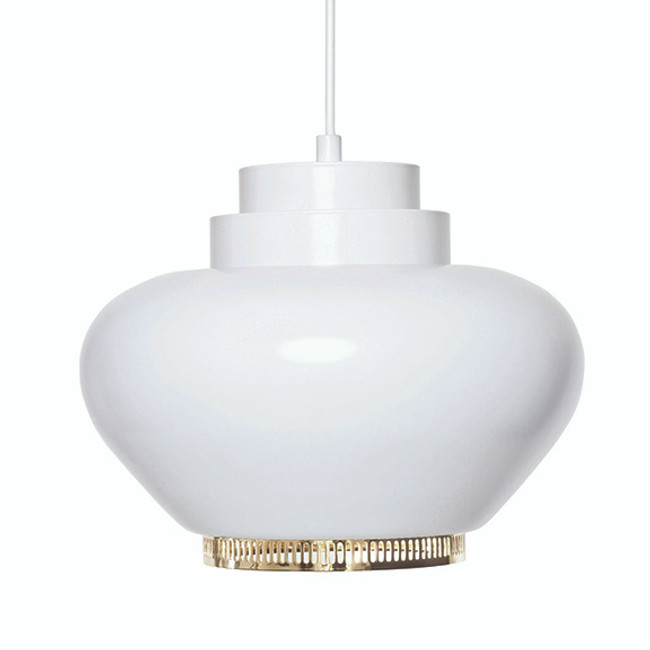 Artek Turnip Lamp A333 with brass plated ring