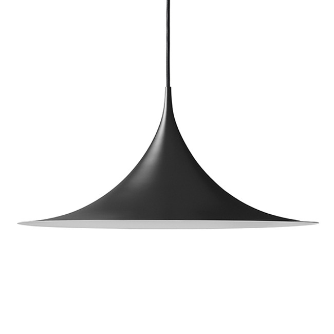 Gubi Semi Pendant 60cm in Matt Black