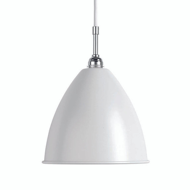 Gubi Bestlite Pendant BL9M in Matt White/Chrome