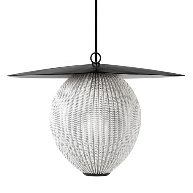 Gubi Satellite Pendant Large in white cloud