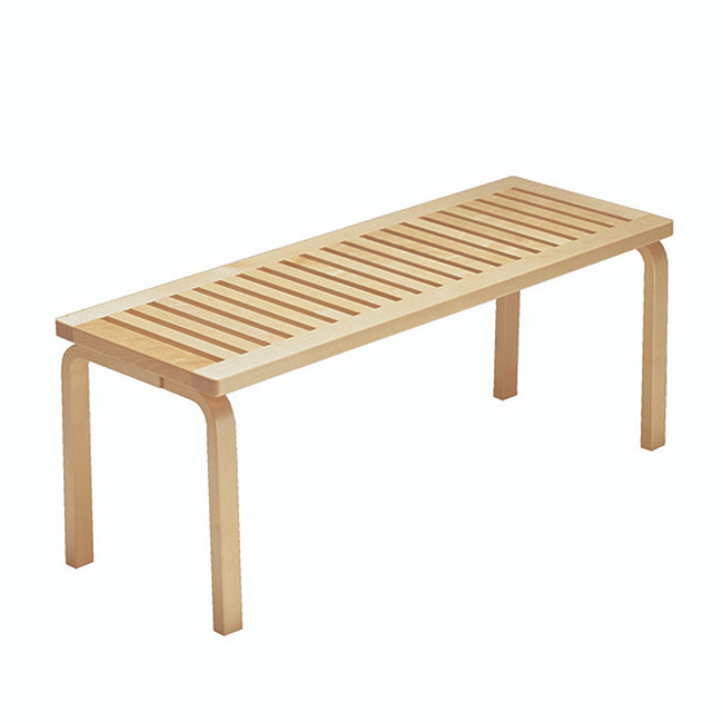 Artek Bench 153A in birch natural lacquered