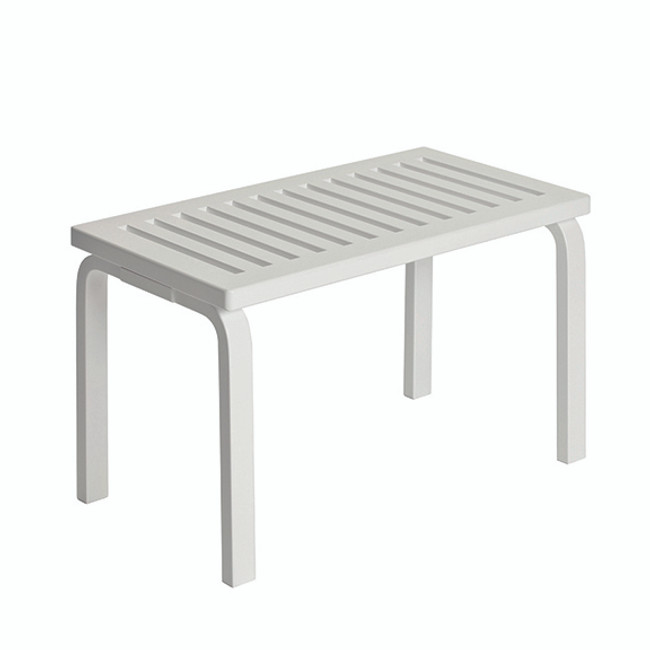Artek Bench 153B in white lacquered