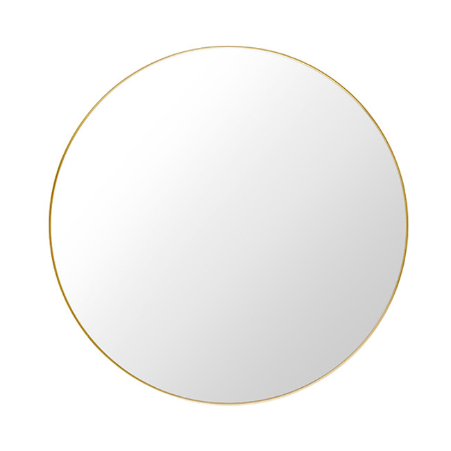 Gubi Round Wall Mirror in brass