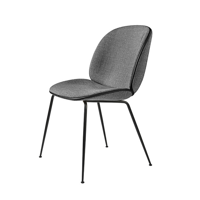 Gubi Beetle Chair in Grey Remix 152 seat / black base