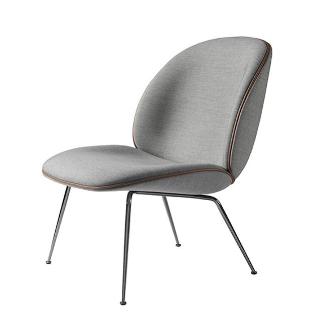 Gubi Beetle Lounge Upholstered in Grey Remix 123 seat/black base