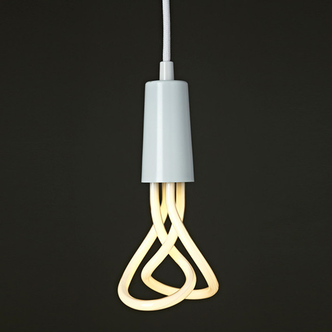 The Plumen Drop Cap Pendant in white